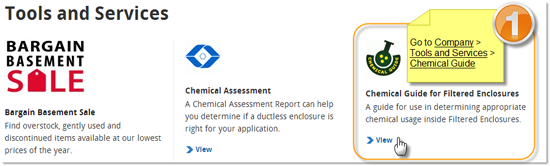 Go to Company, Tools and Services, Chemical Guide