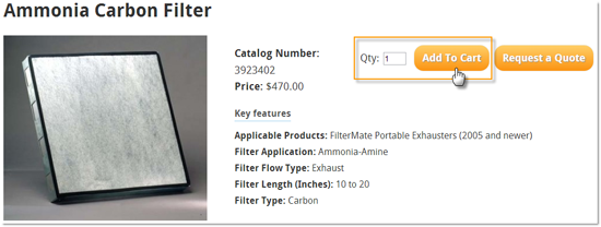 Purchase filters on the Labconco website