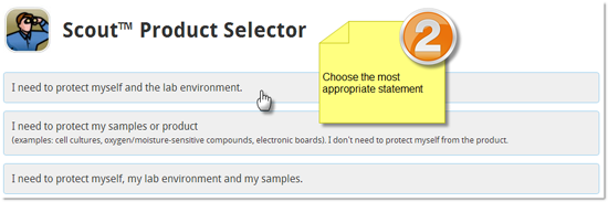 Scout Product Selector - Choose statement