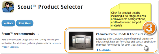 Scout Product Selector - View recommended product